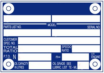 Tabliczka znamionowa  skrzyni biegów ZF